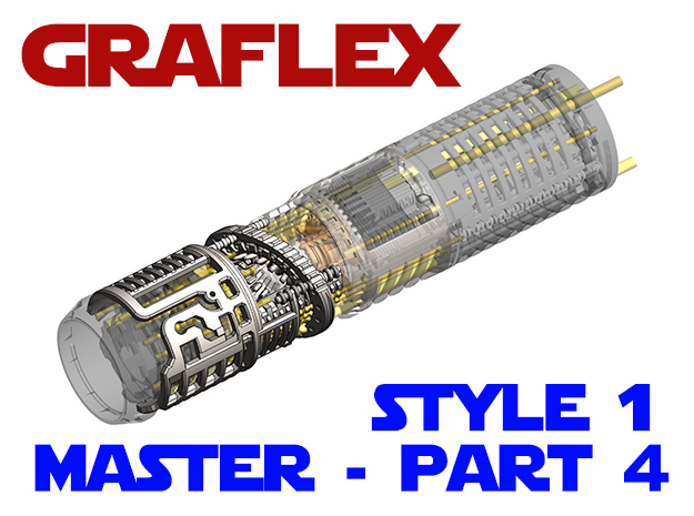 Graflex Master - Part4 Style1 - Shell2 in White Natural Versatile Plastic