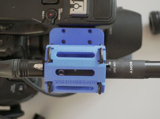 PXW-FS5 Rugged Microphone Holder in Black Natural Versatile Plastic