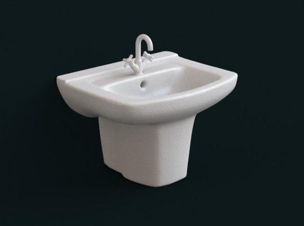 1:39 Scale Model - Sink 04 in White Natural Versatile Plastic