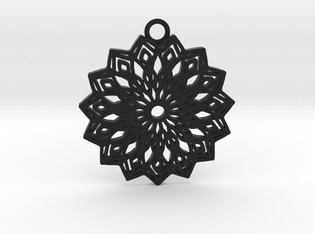 Lelia pendant in Black Natural Versatile Plastic: Large