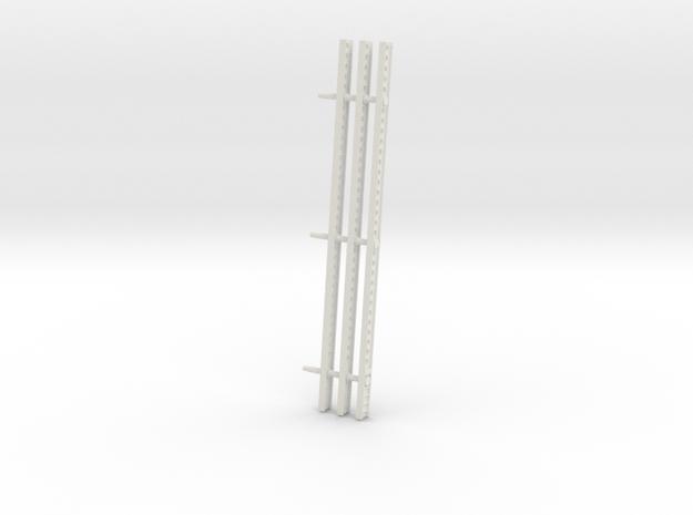 Katyusha Left Rails 1:16 scale in White Natural Versatile Plastic