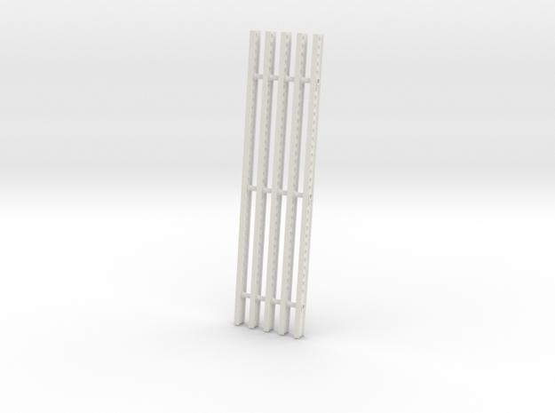 Katyusha Right Rails 1:16 scale in White Natural Versatile Plastic