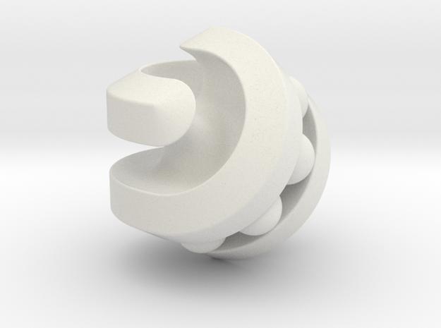 Hexasphericon Bearing in White Natural Versatile Plastic