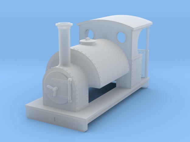 OO freelance 0-4-0T saddletank loco with open back in Smooth Fine Detail Plastic