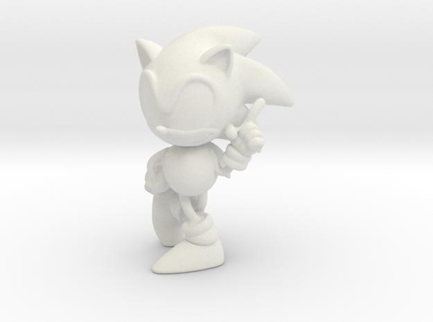 Sonic The Hedgehog in White Natural Versatile Plastic