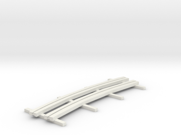 r-165bas-curve-1r-bridge-ng-track-long-plus2-1a in White Natural Versatile Plastic