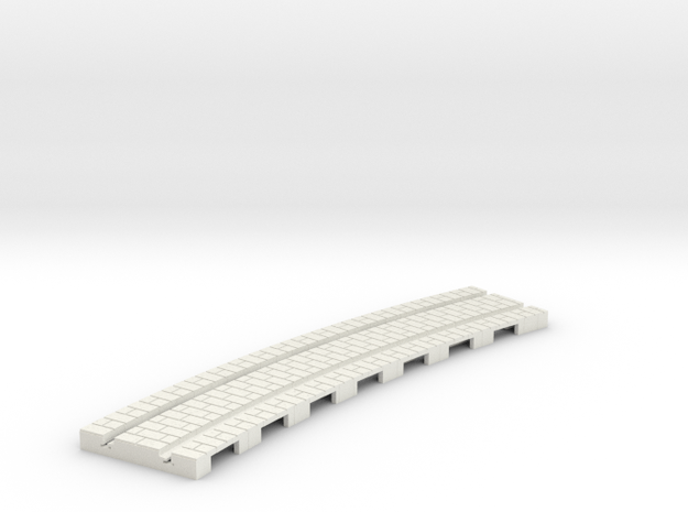 p-165-curved-1r-tram-track in White Natural Versatile Plastic