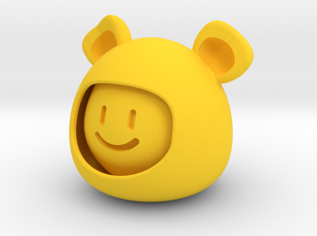 Bear emoji in Yellow Processed Versatile Plastic