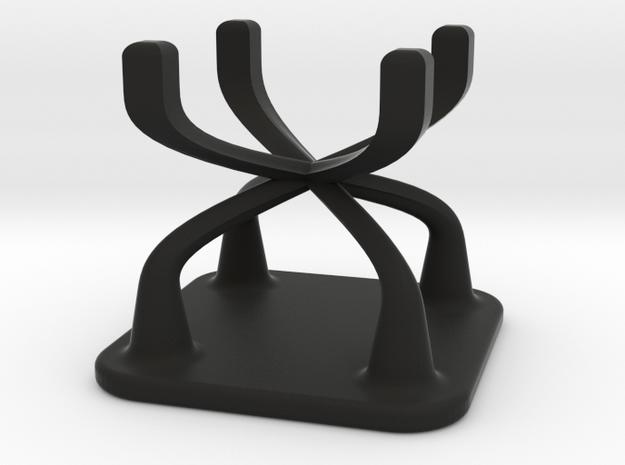 Doll Stool Chair 01 in Black Natural Versatile Plastic