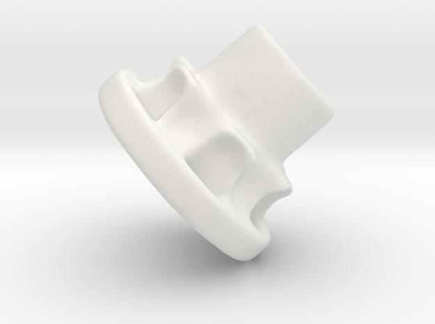 Vertical Chain Control Gear 002A in White Natural Versatile Plastic