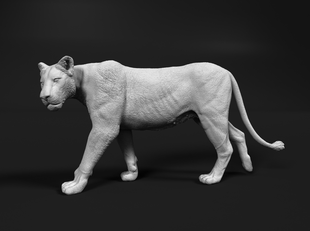 Lion 1:20 Walking Lioness 2 in White Natural Versatile Plastic