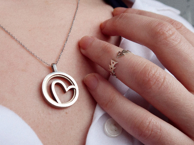 Heart - Silver in Polished Silver: Small