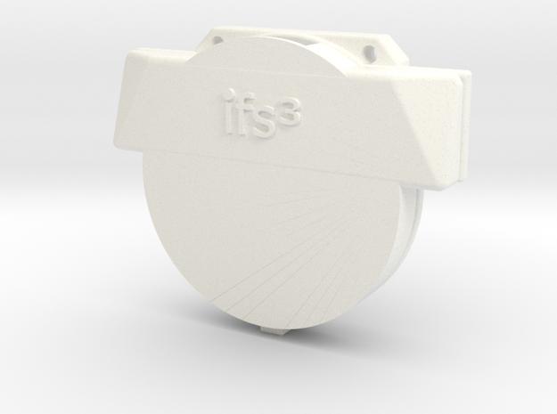 12009R0 TrackR Belt Clip in White Processed Versatile Plastic