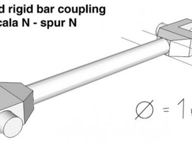 Spur N Kupplungsstange x 60 NEM 1:160 bar coupling 3d printed