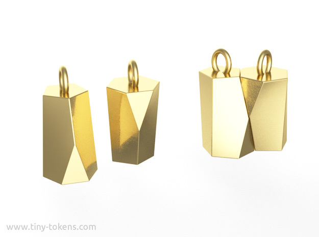 Scutoid Earrings (solid version)