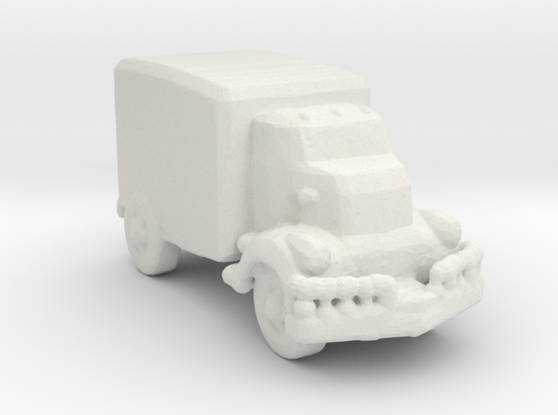 Jeeper's creeper Van v1 285  scale in White Natural Versatile Plastic