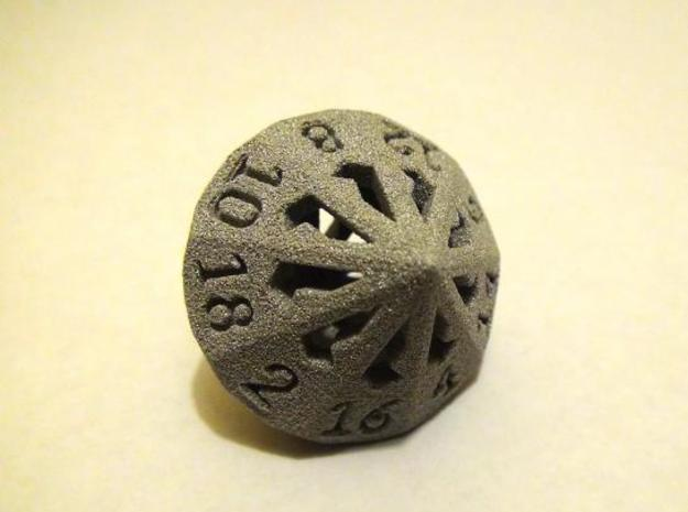 18 Sided Die - Large in White Natural Versatile Plastic