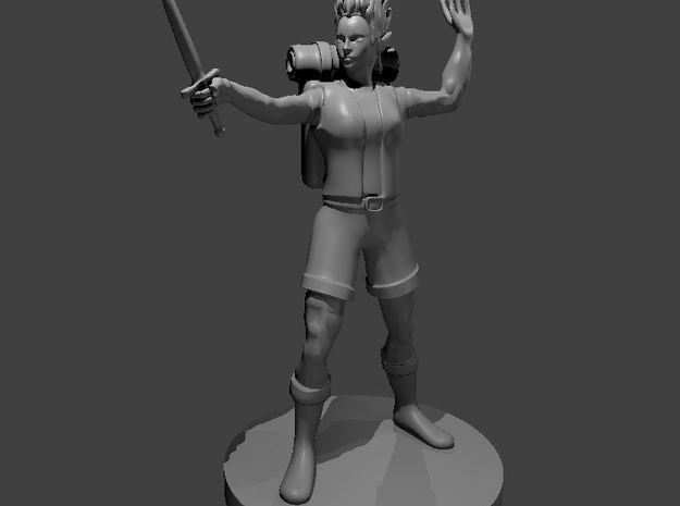 Female Earthfolk Sorceress in Smooth Fine Detail Plastic