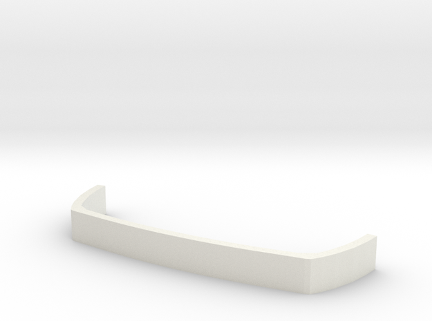 Back Bumper Armor in White Natural Versatile Plastic