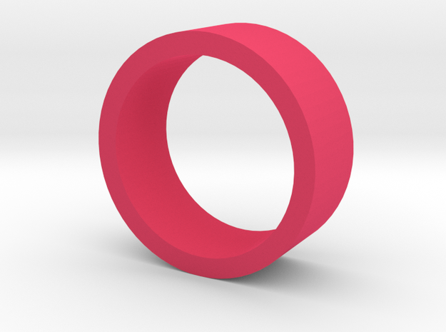 Ring Flat in Pink Processed Versatile Plastic