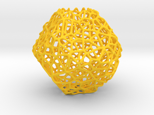 Mini geodesic dome planter in Yellow Processed Versatile Plastic