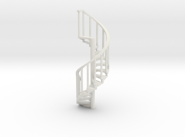 s-87-spiral-stairs-market-lh-1a in White Natural Versatile Plastic