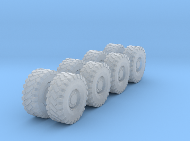 N LRG 8' Const. Vehicle Wheels/Tires in Smooth Fine Detail Plastic: 1:160 - N