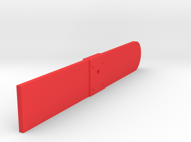 Signal Semaphore Blade Wooden (Square) 1:19 scale in Red Processed Versatile Plastic