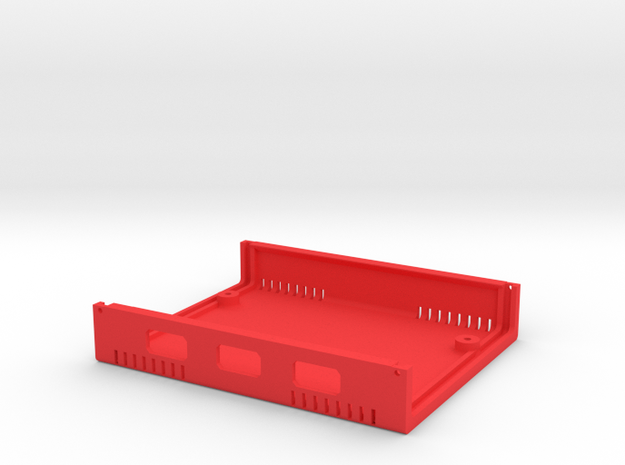 USB Sidecar for MiSTer Case B Shell (1/2) in Red Processed Versatile Plastic