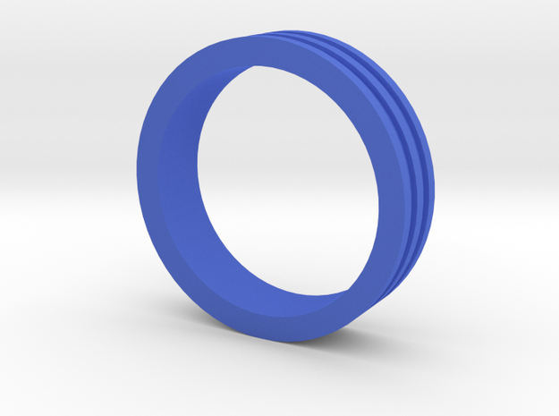 Ring Engraved Lines Thin in Blue Processed Versatile Plastic
