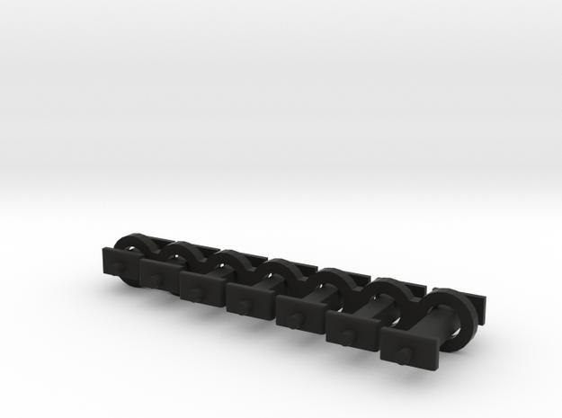 N Scale Fixed Coupling Drawbars - Sample Set in Black Natural Versatile Plastic