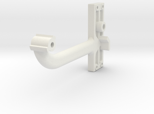Signal Semaphore Arm (Long) no bolts 1:19 scale in White Natural Versatile Plastic