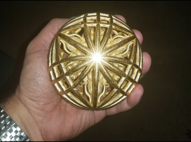 "Awesomeness Sphere 4"" Contact Juggling Ball in Polished Gold Steel"