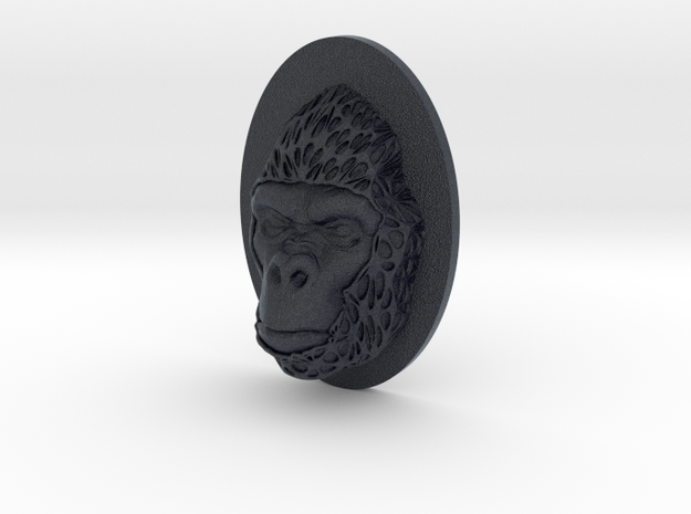 Gorilla Face + Half-Voronoi Mask (001) in Black PA12