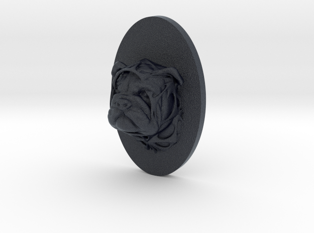 Bulldog Face + Half-Voronoi Mask (001) in Black PA12