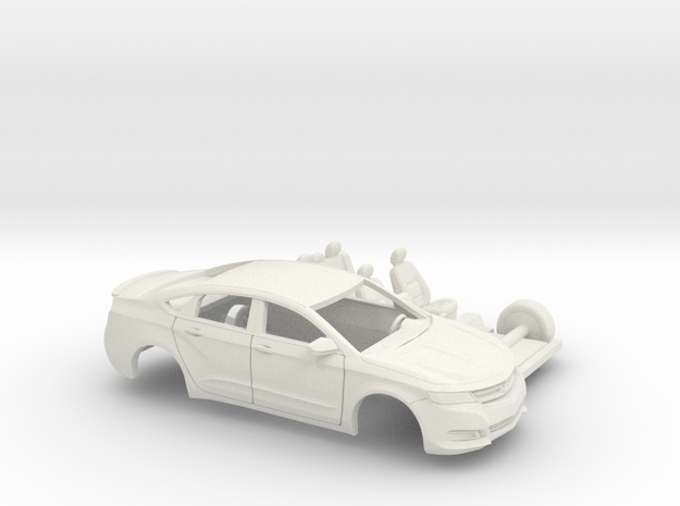 1/43 2013-17 Chevrolet Impala Sedan Custom Kit in White Natural Versatile Plastic