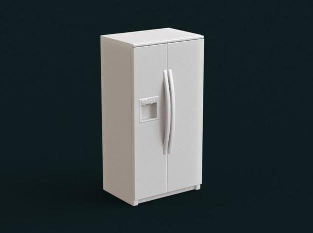 1:39 Scale Model - Refrigerator 04 in White Natural Versatile Plastic