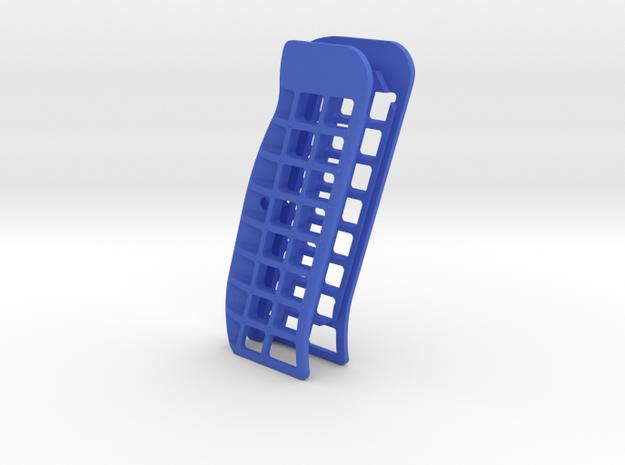 CZ Flat Open cut grips in Blue Processed Versatile Plastic