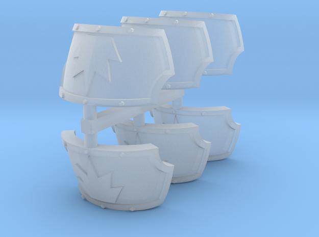 Devastator Centaur shoulder pads x6 #2 in Smooth Fine Detail Plastic