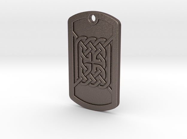 delux_dogtag_003 in Polished Bronzed-Silver Steel