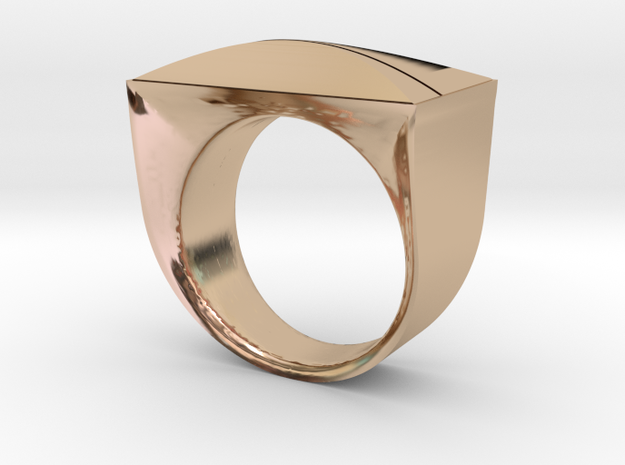 Above and Below Ring in 14k Rose Gold Plated Brass