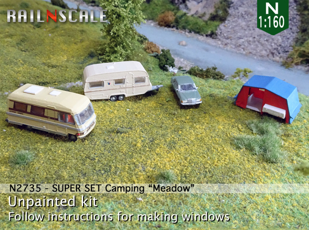 SUPER SET Camping Meadow (N 1:160) in Smooth Fine Detail Plastic