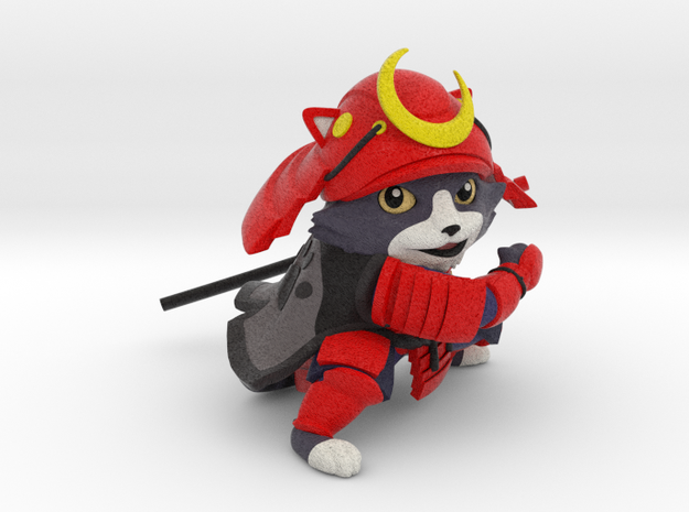 samurai cat (solid) in Natural Full Color Sandstone