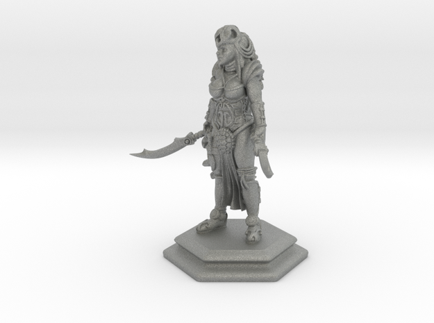Female sword soldier 54mm in Gray Professional Plastic