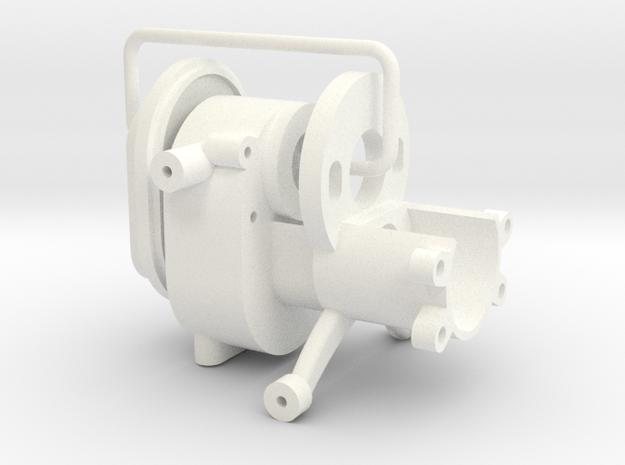 1/24 Rammunition Gearbox in White Processed Versatile Plastic