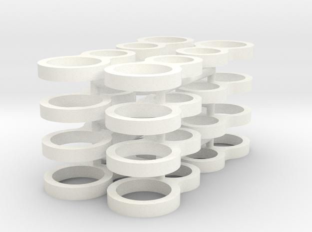 1/24 Rammunition Shock parts_2 in White Processed Versatile Plastic