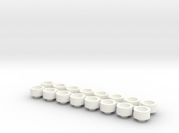 1/24 Rammunition Shock parts_3 in White Processed Versatile Plastic