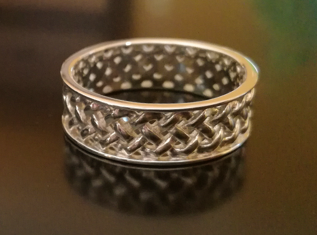 Knotwork Ring - complex in Polished Silver: 12.5 / 67.75