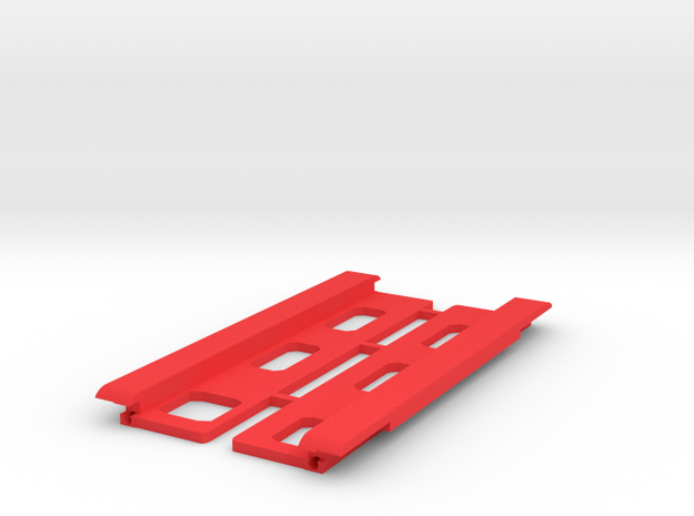 USB Sidecar for MiSTer Case Panels (2/2) in Red Processed Versatile Plastic