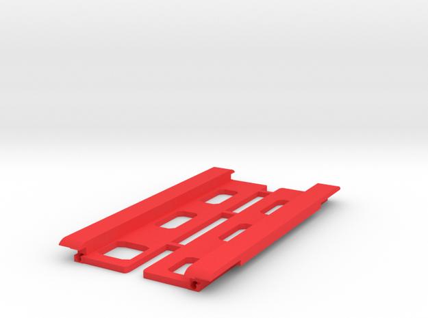 USB Sidecar for MiSTer Case Panels (2/2) (v1.1) in Red Processed Versatile Plastic